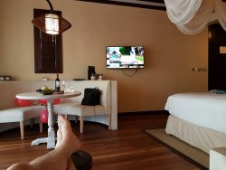 The hotel is beautiful, located at a great beach for snorkeling, staff is very friendly  and the food is delicious