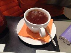 hot chocolate is thick, like liquid chocolate