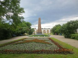 Obelisk in Honor of a Feat of I.S. Gerasimenko, A.S. Krasilova and L.A. Cheremnova