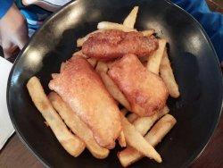 Kid's fish and chips.