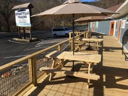 First two picnic tables were delivered this past weekend.  Two more picnic tables on the way!!
