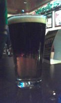 A tasty Black & Tan at the Black Sheep on St. Patrick's Day