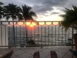 Sunset from Room 3 balcony