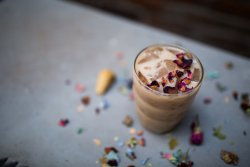 Try our Blissful Rose Chai from Aahaa Chai in Indianapolis.