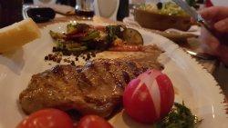 So much taste in this piace of meat (vela steak) , a juicy grilled vegetables