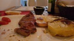 Ribeye steak, my favorite one.. with AMAZING potatos. Must try.