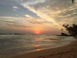 sunset in nearby Wijiya beach