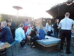 rPalm Springs rooftop party