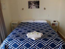 2. Q-size bed with doona (spare blanket in cupboard), Studio Villa 7