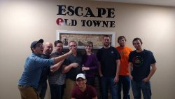 Highly spirited and very fun group.They barely made it out of Jekyll/Hyde Room.
