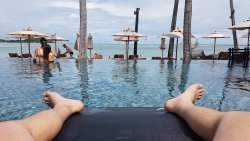 nice beach and main pool..