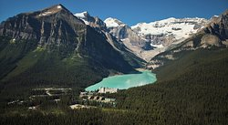 Lake Louise Aerial View