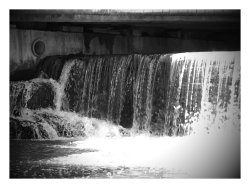 Aquetong Creek Dam Waterfall