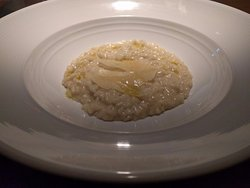 Risotto w/ shaved parmesan