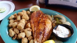 My blackened snapper with okra.