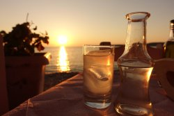 Ouzo by the water!