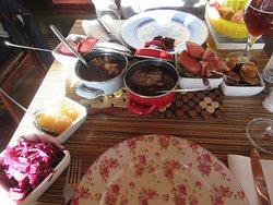 A variety of dutch food.