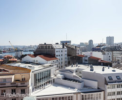 The Double Room with Terrace at the Sercotel Blue Coruna
