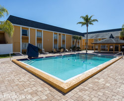 The Pool at the Quality Inn & Suites