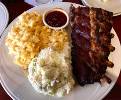 Tried the dinner Special - ribs. I'm a rib snob and never order in restaurants. Texas style with
