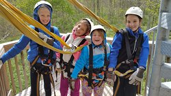 The little ones were about as little as you can be for this high adventure fun.