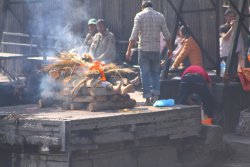 Pashupatinath Temple. Burial pyre