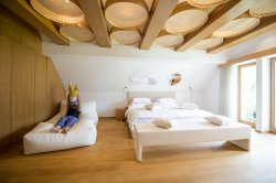 This is the biggest room called 'Senik' which is really stylish and includes a huge bean bag.