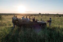 Sundowners in the company of a heard of buffalo.