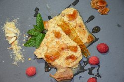 semifreddo with honey and dried figs