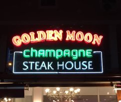 Golden Moon champagne steak house