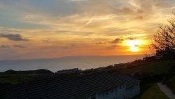 Sun set from our caravan