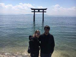 Beautiful Shirahige Shrine and Lake Biwa