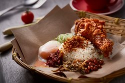 Crispy Crumbly Chicken Drumstick Rice Set