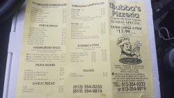 Bubba's Pizzeria & Restaurant