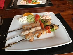 Main course, Shrimp Skewer