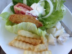 Fish & Chips with Salad