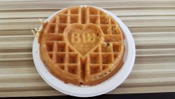 Waffle with Best Western hart