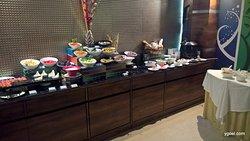 the buffet counter
