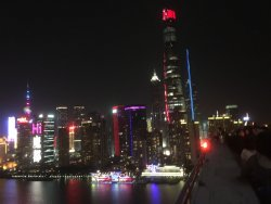 Great view of Shanghai Skyline at night