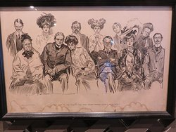 We like to check out the antiques, including this sketch of a jury