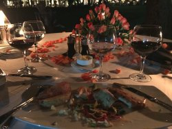 Sublime service, one of the most romantic locations on the planet and lovely food