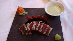 Off the menu - ahi sashimi like they used to serve. On request.