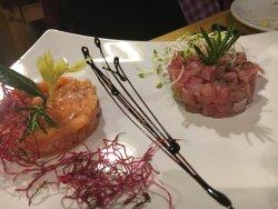 Carpaccio of Tuna and Salmon
