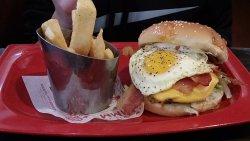 Hamburger with Egg and Bacon