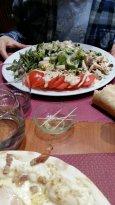 assiette de légumes froids et chers