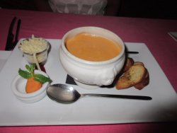 This is the lobster bisque soup. Simply delicious!