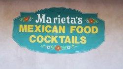 Marieta's Entrance Sign