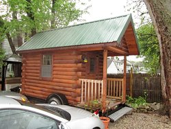 """""""Tiny house"""" in parking lot available for overnight stay"""