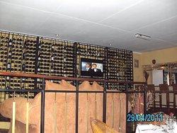 Impressive wine rack!