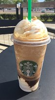 S'mores frap with affogato shot